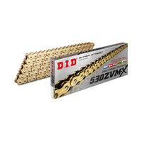 DID Chain 530 ZVMX Heavy Duty X-Ring Gold - 126 Links